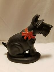 Cast Iron Scotty Dog Door Stop Scottish Terrier