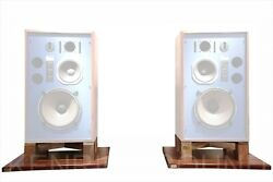 Exclusive Walnut Total Solid Wood Stand Pair For Jbl 4343 4344 4348 From Japan
