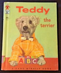1956 VINTAGE TIP TOP ELF BOOK TEDDY THE TERRIER 29¢ 8738 RAND MCNALLY LOT A291