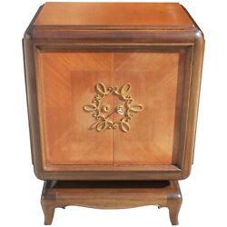 French Art Deco Mahogany Small Sideboard  Buffet by Jean Desnos circa 1940s.