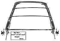 Chevrolet Chevy Camaro Convertible Top Frame Assembly 1967-1969