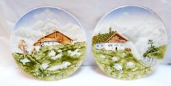Marie Louise Handpainted Majolica 9.5 Fine Ceramics Plates 11 And 18 Germany