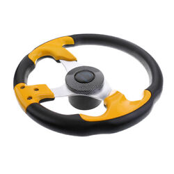 Boat Steering Wheel Soft Grip Standard 3/4 3 Spoke 315mm Yacht Sport Wheel