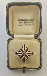 A Magnificent Enamel Union Jack And Diamond Ring Circa 1800andrsquos