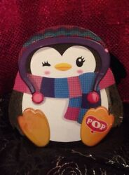 Kid's Girl Chic Backpack Bag Purse Paper Pop Penguin Great For Cosmetics Or Play