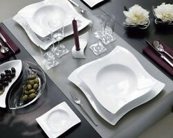 Villeroy And Boch - 12 Floors +12 Soup Plates +12 Fruit/dessert New Wave - To