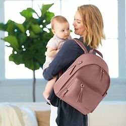 Super stylish Simply Chic Diaper Backpack Dusty Rose Changing Pad For Newborn