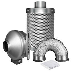 Carbon Filter System 8 Feet Grow Tent Ventilation 4 Inch 190 CFM Duct Inline Fan