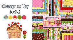 Cherry On Top 5 Charm Pack / Quilt Squares Moda Fabric