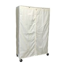 Cover For Wire Shelving Storage Rack Unit | Size 48wx18dx72h, Off White