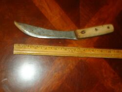 Vintage Antique Lakeside Hammer Forged Carbon Steel Hunting Skinning Fish Knife
