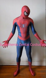 Amazing Spiderman costume TASM2 Zentai Spider man Cosplay Suit For Adult Kids