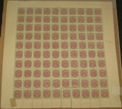 Dwi 5 1andcent Bicolor Pr. Viii Complete Sheet Of 100 Nh/h Facit For Singles 6900