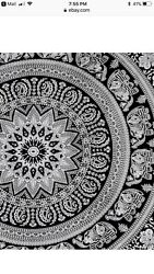 Popular Handicrafts tapestry wall hangings Black and White Hippie Mandala Tapest