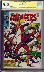 Avengers 55 Cgc 9.0 1968 1st Ultron-5 Stan Lee Signature White Pages H2 121 Cm