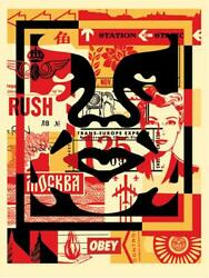 Obey Giant Shepard Fairey Face Collage Signed Middle Street Art Print Banksy