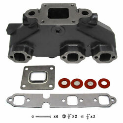 New Mercruiser V6 4.3 4.3l Exhaust Manifold 864612t01 Dry Joint W/ Gaskets Bolts