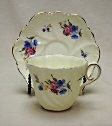 Paragon Fine Bone China By Appointment To Hm The Queen Floral Tea Cup And Saucer