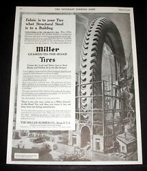 1916 Old Magazine Print Ad The Miller Rubber Company Geared-to-the-road Tires