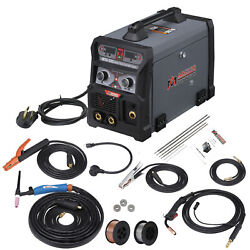 Mts-205 Amp Mig Wire Feed And Flux Cored Wire, Tig Stick Arc Multi-process Welder