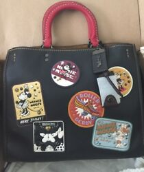 Disney X Coach 1941 Rogue With Minnie Mouse Patches NWT HTF