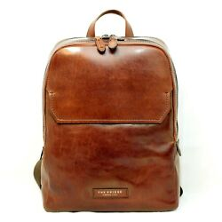 Man Woman Backpack THE BRIDGE brown leather rucksack for laptop new 06140701
