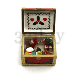Dollhouse Wood Trunk Filled With Dollhouse Wooden Toys 112 Toy Nursery Supplies