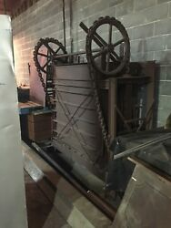 Antique Baler No Plate Total Height Approx. 7and039 Bale 48 X 28 X 60 Parts Only