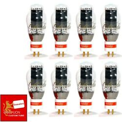 New Genalex Reissue Px300b / 300b Gold Pin Matched Octet 8 Vacuum Tubes