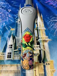 Disney Beauty And The Beast Magic Band Stained Glass Gray Belle Magicband