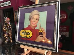1940and039s Advertising Sign Nugrape Soda Framed Cardboard 18 X 19 Video