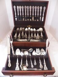 REED & BARTON FRANCIS 1ST STERLING SILVER FLATWARE SET FOR 12, LATER MARK 121 PC
