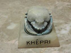 Zurqieh - Ancient Egypt Rare And Large Egyptian Blue Scarab. 1065 - 300 B.c