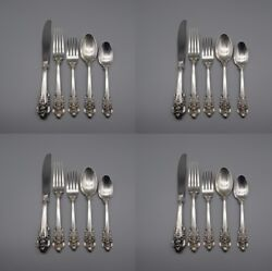 20pc Set - Wallace Sterling Silver Grande Baroque Service For Four