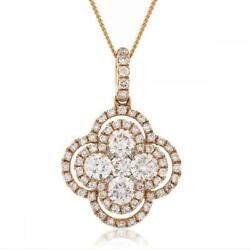 Diamond Halo Pendant 0.80ct F Vs In 18ct Rose Gold With Diamond Bale And Chain