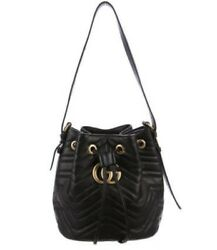 NWT GUCCI MARMONT BUCKET BAG in BLACK - CURRENT RETAIL $2300 + TAX