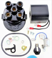 Cap (Cover) Coil Rotor Points Condenser Kit Wico C magneto 4 cylinder C-4 WQ10