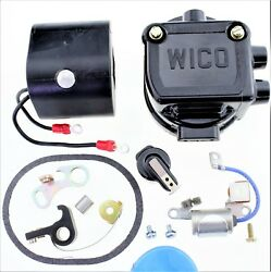 Cap (Cover) Coil Rotor Points Condenser Kit Wico C magneto 2 cylinder C-2 C2 WQ1