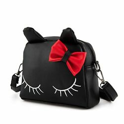 SUKUTU Little Girls Cute Cat PU Leather Crossbody Purse Backpack Purses With For