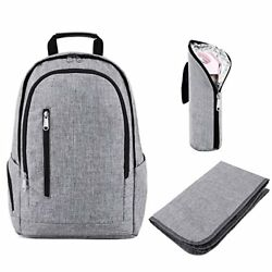 Kattee Diaper Bag Backpack for Women& Men with Changing Pad & Insulated Bottl...