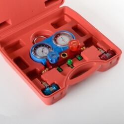 Air Conditioning Refrigeration Charging Ac Manifold Gauges Set Charger Tool Kit