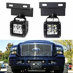 iJDMTOY Complete 40W High Power LED Fog Lights with Mounting Brackets Wiring or