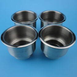 4pcs Stainless Steel Cup Drink Holder Universal For Boat Car Truck Camper Rv