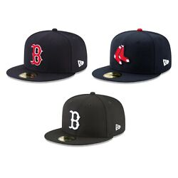 Boston Red Sox BOS MLB Authentic New Era 59FIFTY Fitted Cap 5950 Hat Navy