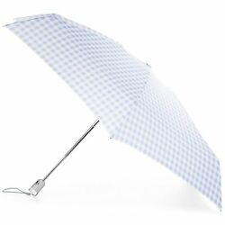 Totes Micro Fashion Micro AOC Umbrella - Miami Gingham - One Size