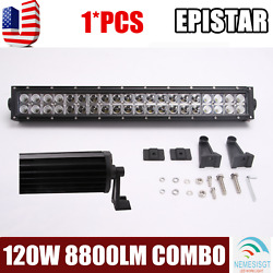 22inch 120w Led Work Light Bar Combo Flood Spot Truck 4wd Offroad For Jeep Slim