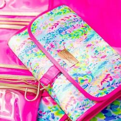 NEW Lilly Pulitzer 4 PC Umbrella Garment Bag Travel Tag Cosmetic Catch the Wave