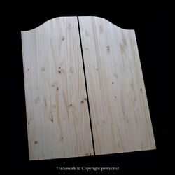 Cafe Door Knotty Pine 30w Saloon Swinging Pub Western Bar, Choice Of Hinges
