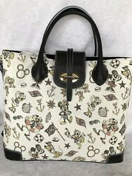 Disney Cruise Line Dooney And & Bourke Tote Mickey Minnie Donald
