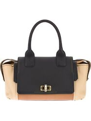 NEW Lanvin Women Calfskin Color Block Happy Plenty Tote Bag $2987